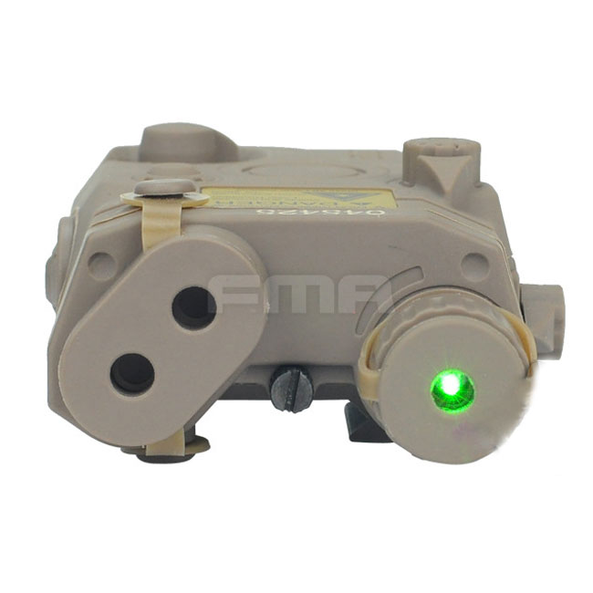 AN/PEQ 15 LA-5 Battery Box Model & Green Laser Tactical Airsoft DE