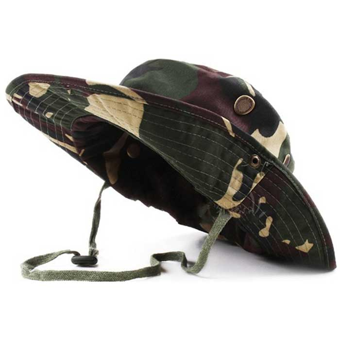 Wide Brim Boonie Cap Military Hunting Fishing Cap Outdoor Sun Hat CL