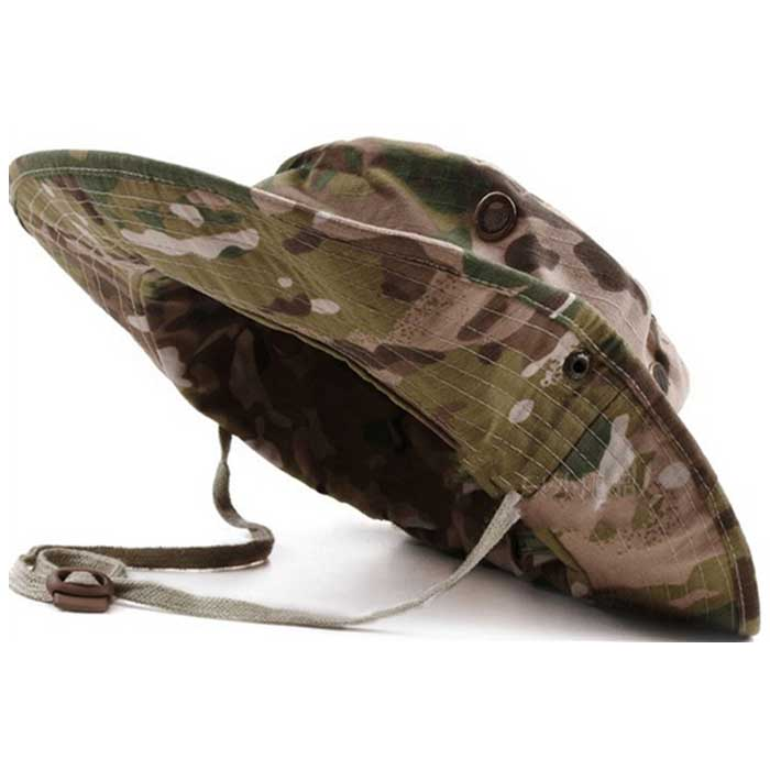Wide Brim Boonie Cap Military Hunting Fishing Cap Outdoor Sun Hat CP ... 4d23685644a3