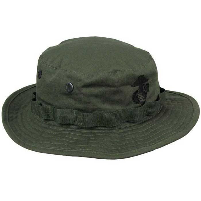 Wide Brim Bucket Hat Military Boonie Cap Hunting Fishing Sun Hat OD