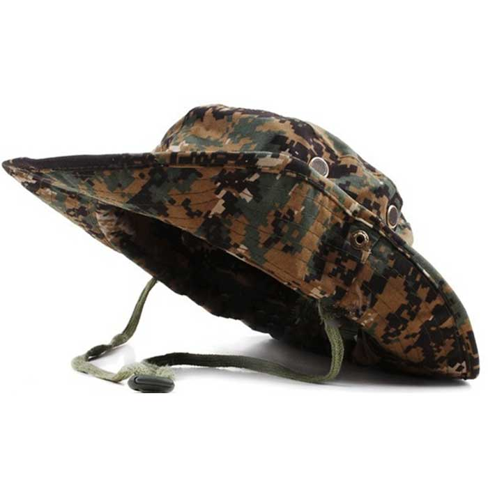 Wide Brim Boonie Cap Military Hunting Fishing Cap Outdoor Sun Hat SM