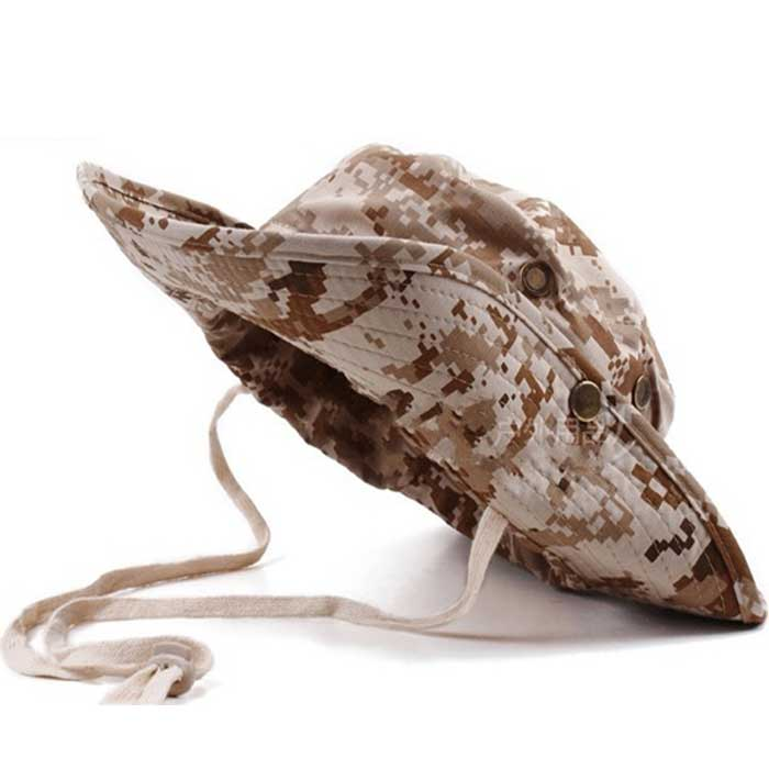 Wide Brim Bucket Hat Military Boonie Cap Hunting Fishing Sun Hat SU