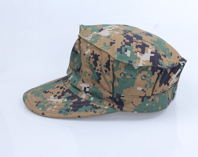 Camouflage Mens Military Octagon Hat Tactical Sun Hat Army Hat SM