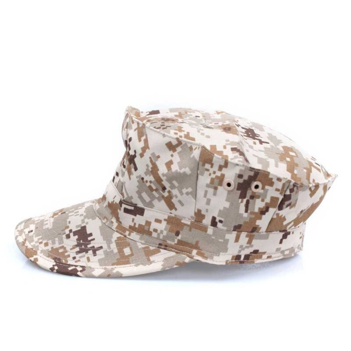 Camouflage Mens Military Octagon Hat Tactical Sun Hat Army Hat D