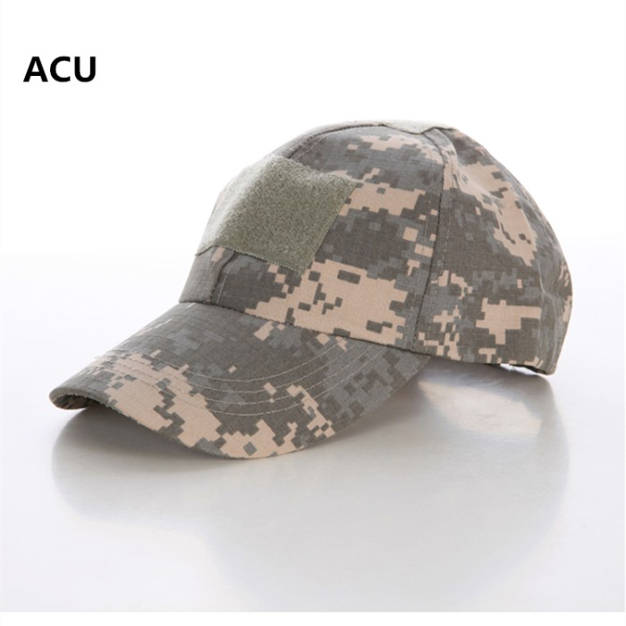 Adjustable Tactical Baseball Cap with Velcro Military Sport Hat ACU