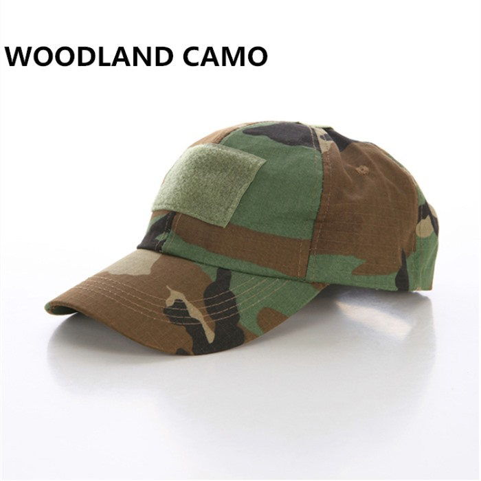 Adjustable Tactical Baseball Cap with Velcro Military Sport Hat WD