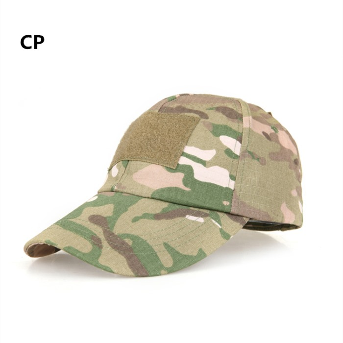 Adjustable Tactical Cap Military Sun Hat with Velcro Baseball Cap CP