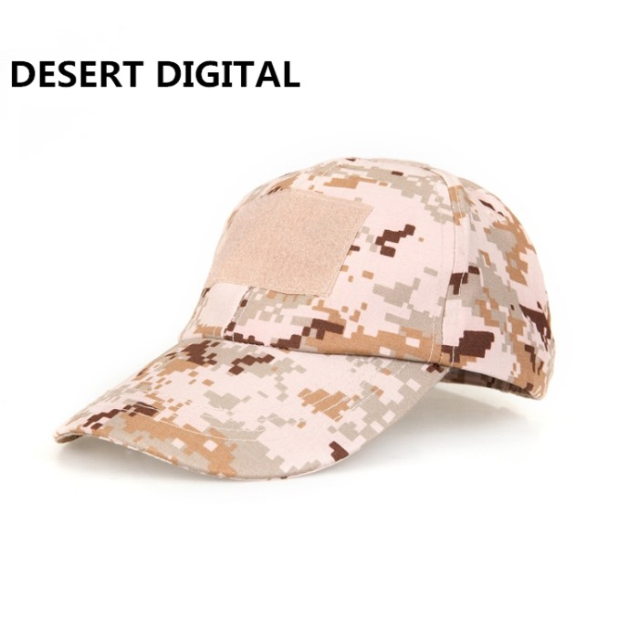 Adjustable Tactical Baseball Cap with Velcro Military Sport Hat DD