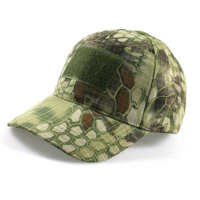 Adjustable Military Camo Tactical Hat Airsoft Baseball Cap w Velcro