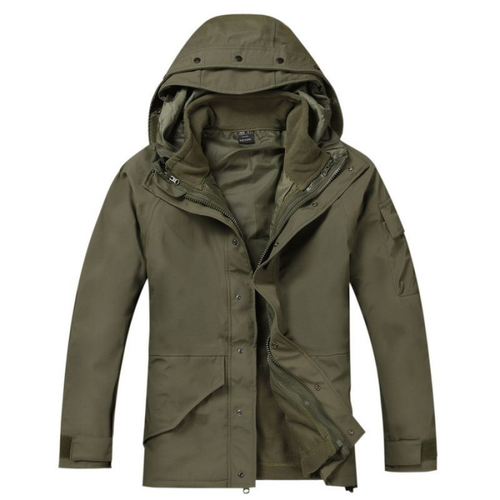 Military Clothing Python Camouflage Coat Tactical Jacket Army Green