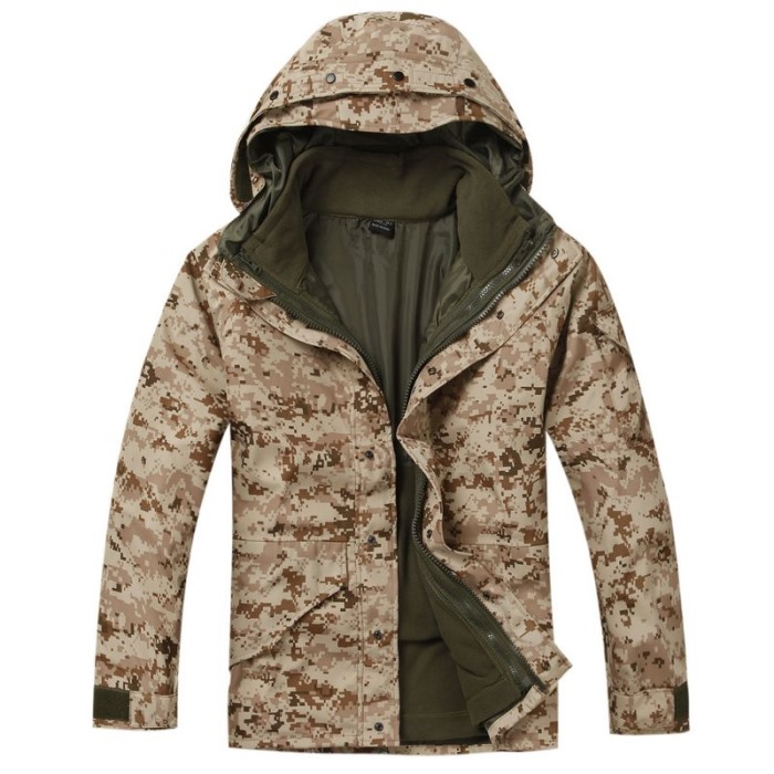 Military Clothing Camouflage Coat Tactical Jacket Digital Desert G8