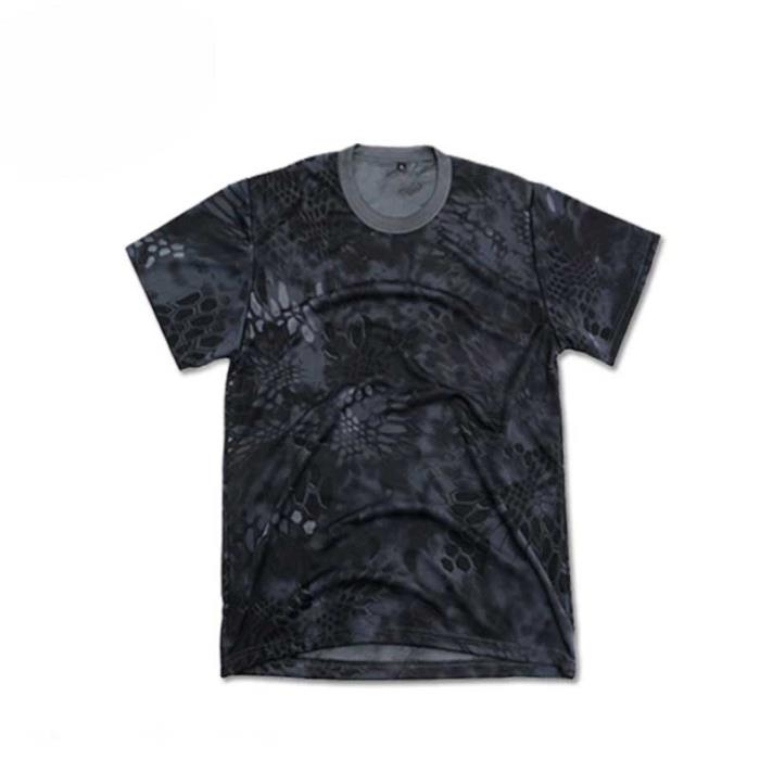 Python Hunting T-shirt Short Sleeve Quick-drying Tee Python Black