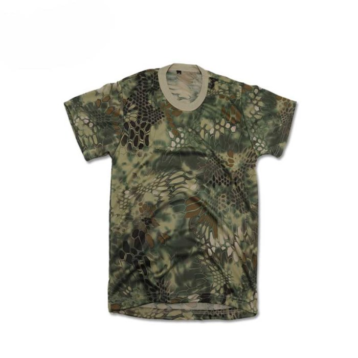 Python Camo Paintball Combat Tactical Quick-drying T-shirt Jungle