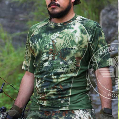 Chiefs Quick-Drying Kryptek Short Sleeve Tactical Combat Shirt Jungl
