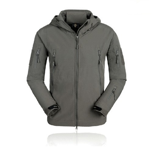 Tactical Keep Warm Waterproof Outing Riding Jacket Coat Gray