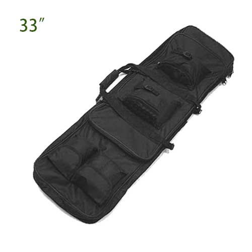 "33"" Rifle Gun Case Bag Tactical Hunting Air Target Range Bags BK"