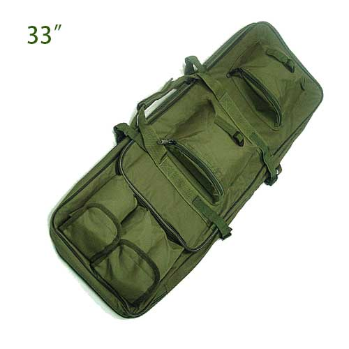 "33"" Rifle Dual Tactical Rifle AEG Carrying Case Gun Bag Hunting OD"