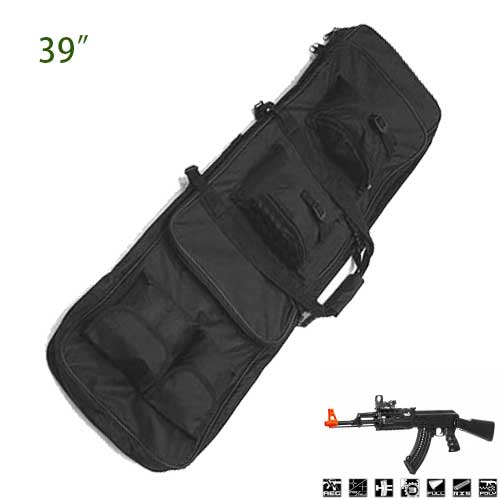 39 inch Well Designed Padding Pockets Tactical Rifle Bag Backpack BK