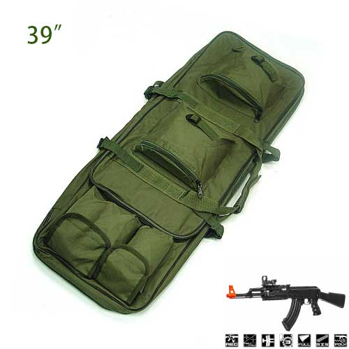 39 inch Well Dual Military Tactical Rifle AEG Carrying Case Gun Bag