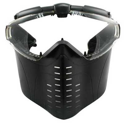 Airsoft Mask Electric Turbo Fan Full Face Mask Black