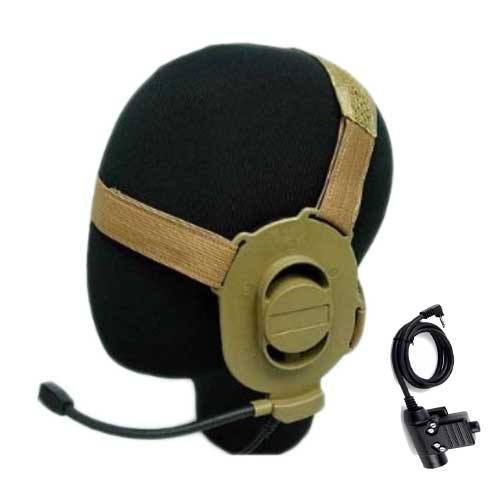 Tactical ELITE II Headset DE with U94 PTT Motorola 1 Pin Radio