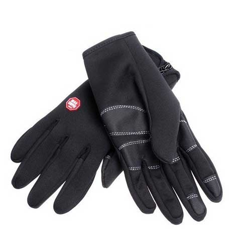 Outdoor Gloves Windstopper Waterproof Windproof Mixed Size Black