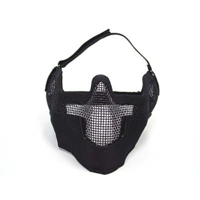 Combat Gear Airsoft Stalker BAT Style Raider Mesh Mask Black