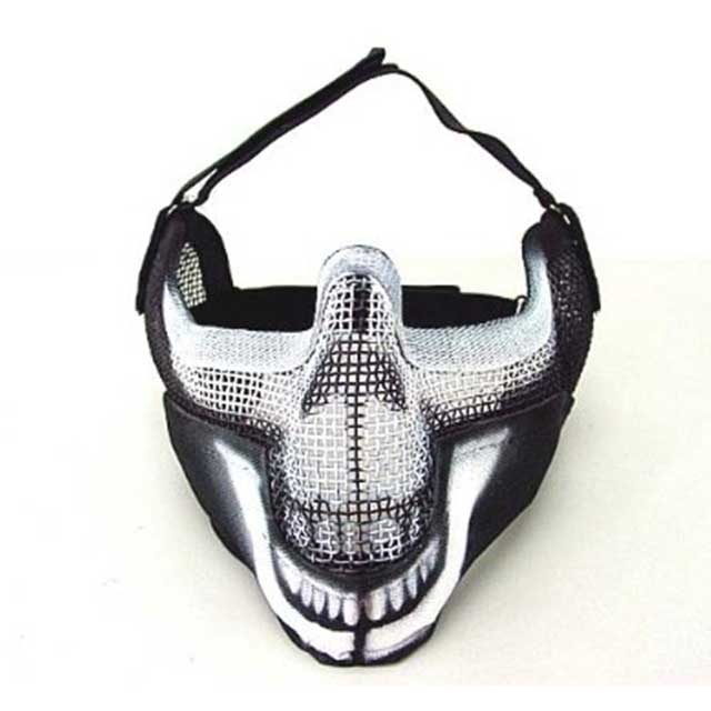 Airsoft Mask Stalker BAT Style Raider Mesh Mask Ghost Black