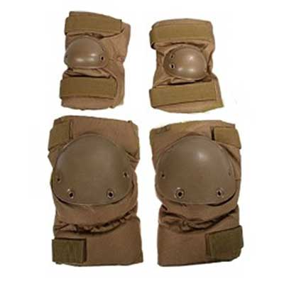Tactical Knee Pad Set (DDE, Cordura)(Khaki) Y5047
