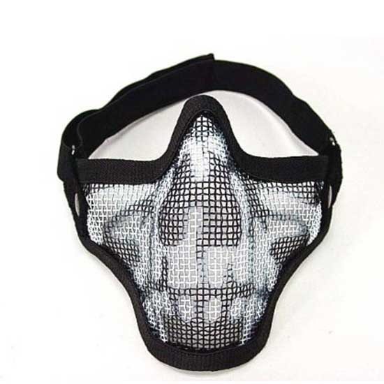 Sports Steel Mesh Half Face Tactical Hunting Protective Mask Cool