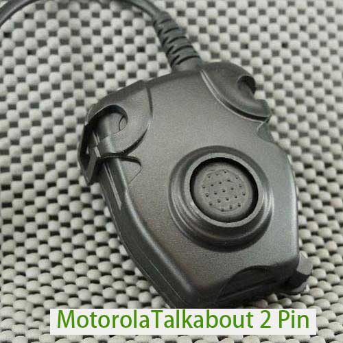 Peltor Style PTT Motorola 2 Pin Radio Headset Cable & PTT Adapter