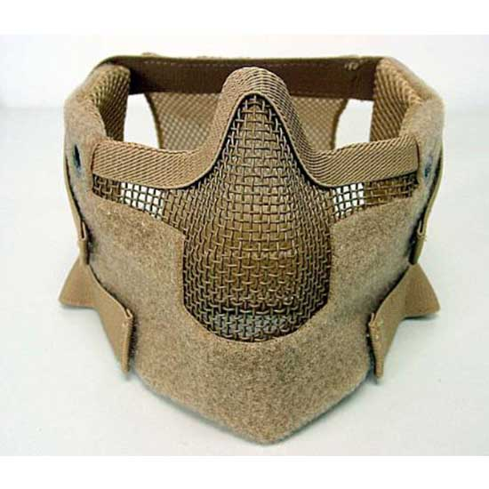 Airsoft Mask New Stalker Style Splinter Mask Steel mesh Tan