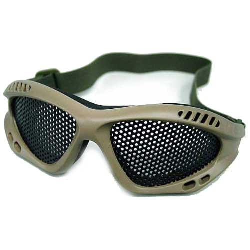 Cool Airsoft Paintball No Fog Tactical Metal Mesh Goggle Glasses OD