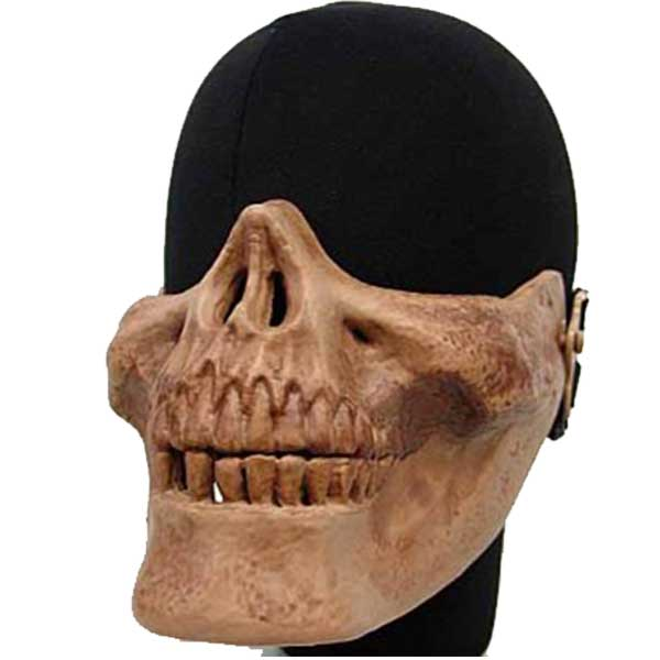 Airsoft Seal Skull Skeleton Half Face Protector Mask Brown