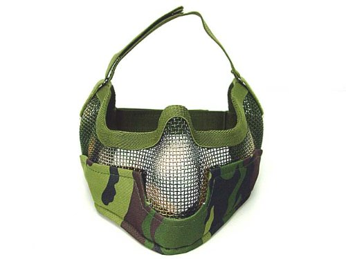 Cool airsoft stalker bat raider mesh mask digital woodland camo