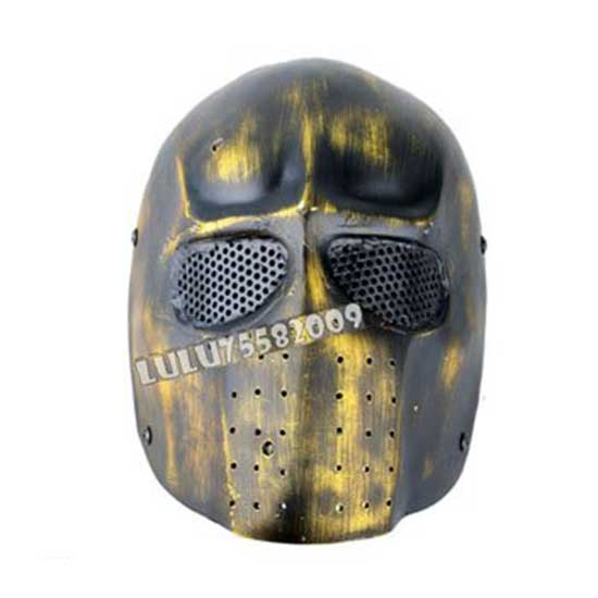 Army Full Face Cover Mask of Two Hard Plastic Yellow