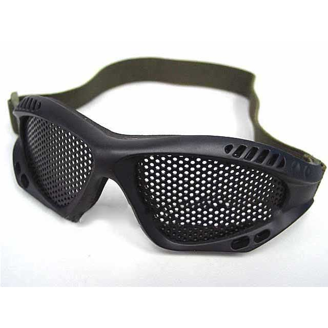 Airsoft Goggle Glasses Paintball No Fog Metal Mesh BK