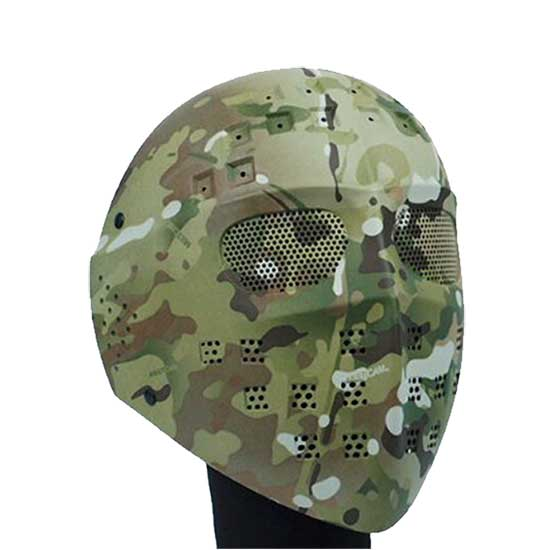 Full Face Airsoft Mesh Goggle Mask Tactical Combat Hockey Type CP