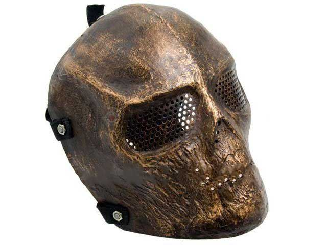 Second Face On Motorcycle Mask >> Airsoft Full Face Skull Mask Hard Plastic Copper Color [HSMAL1057] - $43.40 : Top Airsoft Tactical