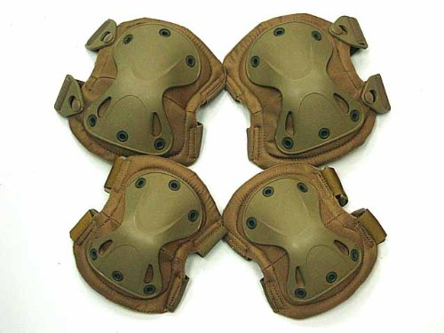 Airsoft Combat Paintball Knee&Elbow Pads Desert Tan