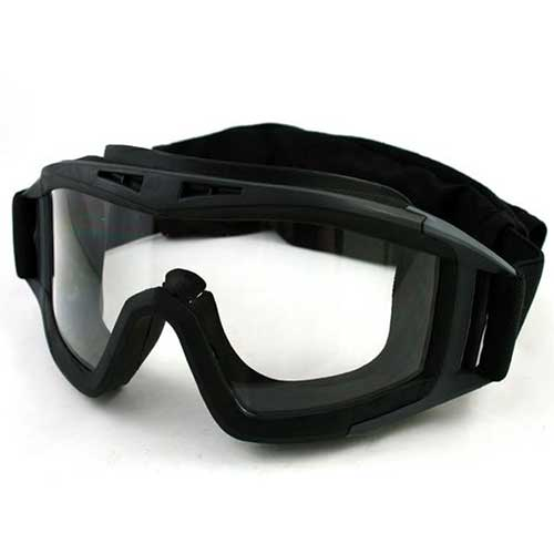 UV-X500 Tactical Airsoft Goggle w/ Exchangeable 3 Lens Glasses Black
