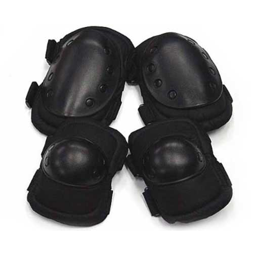 Airsoft Tactical Outdoor Skateboard Paintball 2 Knee & Elbow Pads BK