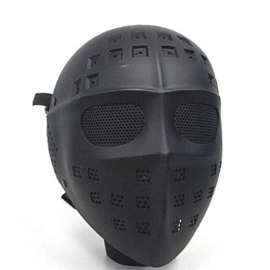 Full Face Airsoft Combat Mesh Goggle Mask Hockey Type