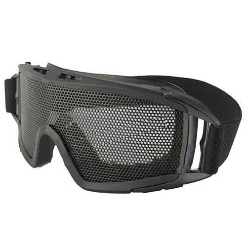 Cool Airsoft Tactical Goggles Metal Mesh Big Wide Black