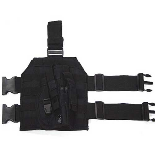 Airsoft Holster Drop Leg Platform Panel Pistol Molle Holster BK