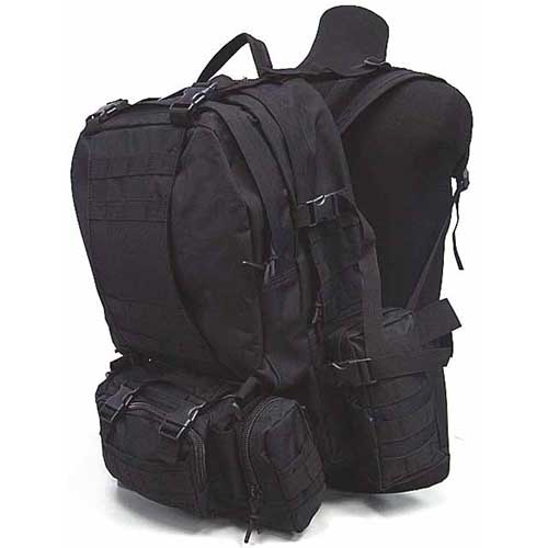 SWAT US Airsoft Tactical Molle Assault Climb Travel Backpack Bag BK