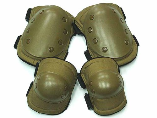 Advanced tactical gear knee & elbow pads coyote brown
