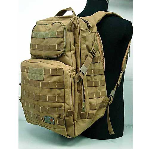 US Airsoft Combat Backpack 12 Zipper Bag Climbing Travel Bags DE