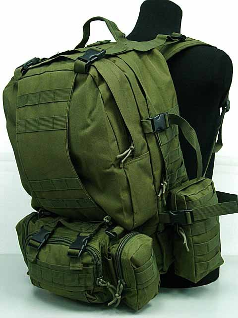 SWAT US Airsoft Tactical Assault Molle Climbing Trave Backpack OD