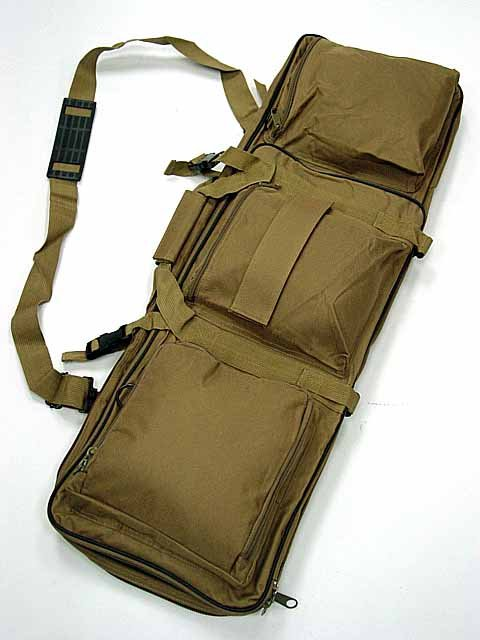 Dual Rifle AEG Carrying Case Gun Bag 33 inch Coyote Brown#B